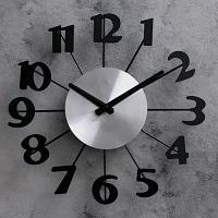 "Часы настенные ""Большие цифры"", d-31 см, пластик"