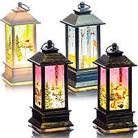 Декоративный новогодний светильник, h-12,8 см, пластик