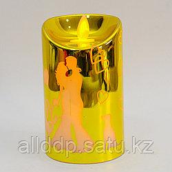 """Светодиодная свеча на батарейках, """"Парень и девушка"""", желтая"""