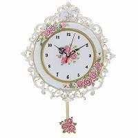 """Часы настенные с маятником, """"Розы"""", 24х22х2 см, пластик"""