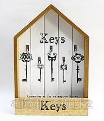 """Ключница шкатулка,""""Keys"""", коричневая, 32*21 см"""