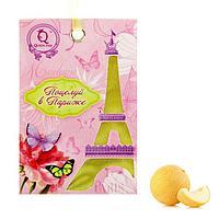 """Аромасаше сумочка с вырубным окном """"Поцелуй в Париже"""", 13,4*18,5см, аромат-дыня, бумага/текстиль"""