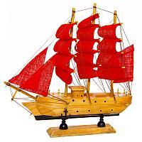 """Сувенир """"Корабль с алыми парусами"""", 24*5*23,5см, дерево/текстиль"""