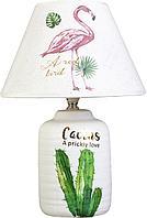 """Лампа настольная керамика """"Кактус"""" белый , 37х25х25 см, керамика"""