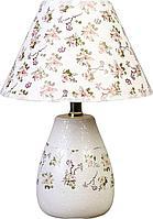 "Лампа настольная ""Мелкие цветочки"" белый,33х22х22 см, керамика"