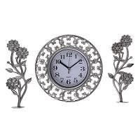 """Часы настенные с декором """"Гафете"""", d-25 см, пластик"""