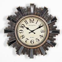 "Часы настенные ""Ограж"", рама с зеркалами, d=30 см, пластик"