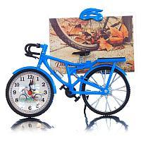 """Фоторамка с часами """"Велосипед"""" 10х15 см, 5,6х21,5х18 см, пластик"""