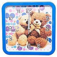 Часы настенные, d-30см, квадратные детские, пластик/стекло