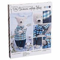 """Набор для шитья """"Домашний медведь Эдвард"""", 18*22см, текстиль/пластик"""