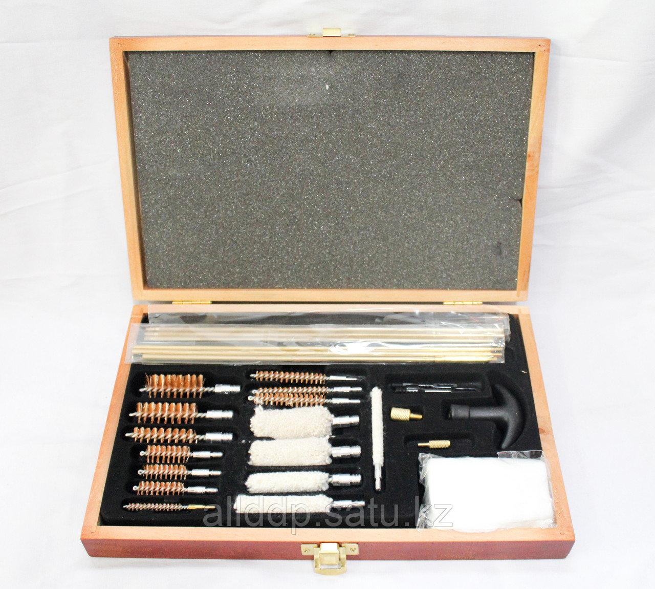 Универсальный набор для чистки оружия, деревянный
