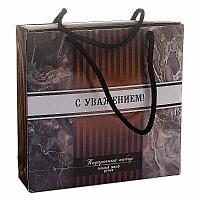 """Подарочный набор """"С уважением"""", теплый шарф и ручка, 16,5*16см, текстиль/пластик"""