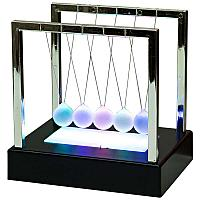 """Сувенир инерционный """"Шары Ньютона"""", с подсветкой, 15*11,5*14см, пластик/стекло"""