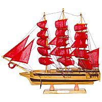 """Сувенир """"Корабль с алыми парусами"""", 45*9*41см, дерево/текстиль/металл"""
