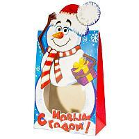 """Коробка для подарков """"Снеговик"""", сборная, L-21см, картон"""