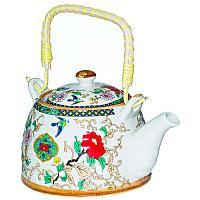 """Чайник заварочный """"Цветы"""", 400мл, керамика"""