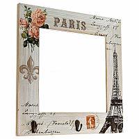 "Зеркало с ключницей ""PARIS"", 33*33см, дерево"