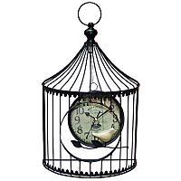 """Часы настенные """"Птичка в клетке"""", 38*24см, металл/пластик"""