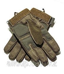 Тактические перчатки хаки. Полнопалые, с усиленной защитой