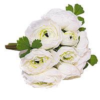 """Цветы искусственные -букет""""Розы"""" , 12 цветов, h-28см, пластик/текстиль"""