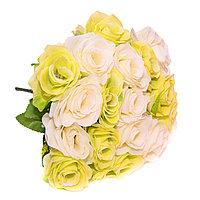 """Цветы искусственные -букет""""Розы"""" , 18 цветов, h-40см, пластик/текстиль"""