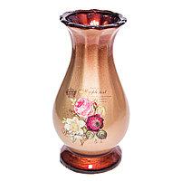 """Ваза настольная """"Tumple lext"""", h-21см, цветы, керамика"""
