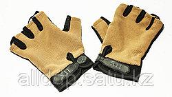 Тактические перчатки 5.11 беспалые, беж