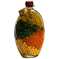 Бутыль декоративная с овощами, h-27см,стекло