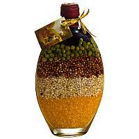 Бутыль декоративная с крупой, h-22см,стекло