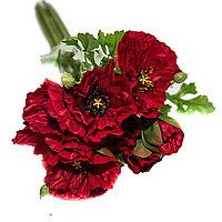 """Цветы искусственные -букет""""Маки"""", h-45см, текстиль/пластик"""
