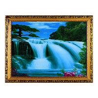 """Картина в багете с подсветкой """"Водопад и дерево"""", 43*56см, багет/стекло/пластик"""