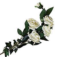 """Цветы искусственные """"Ветка розы"""", h-115см, пластик/текстиль"""