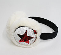 "Меховые наушники (шапка на уши) ""Meow"", белые"