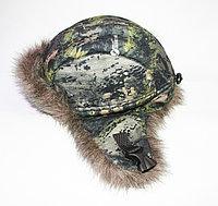 """Флисовая шапка с отворотом, """"Квест"""", зеленая цифра"""