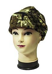 Флисовая шапка с отворотом, камуфляж