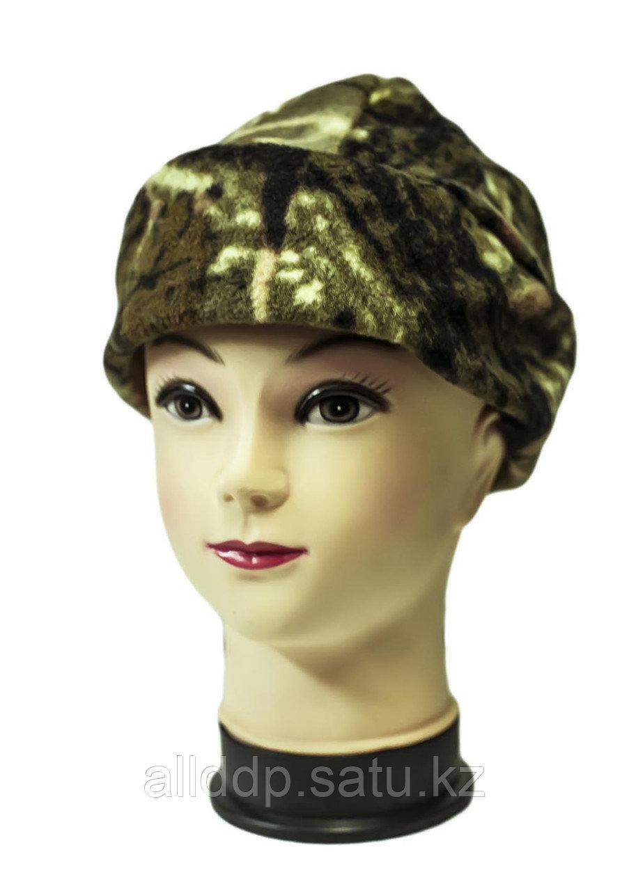 Флисовая шапка с отворотом, камуфляж _2