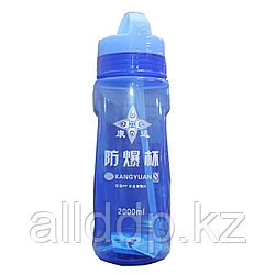"""Спортивная бутылка для воды """"KANGYUAN"""", синяя, 2 л"""