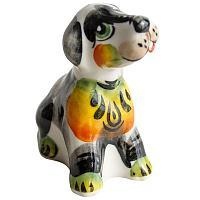 """Собака """"Бобик"""", h-5,5см, цветная, гжель"""