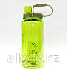 Спортивная бутылка для воды, зеленая, 1,5 л