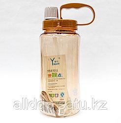 Спортивная бутылка для воды, коричневая, 1,5 л