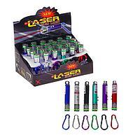 Лазер на карабине с фонариком, 1,5*7см, пластик/металл