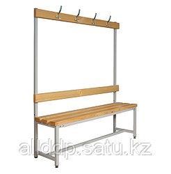 Скамья для раздевалки 1500*40*40 с крючками К203