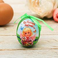 Пасхальный сувенир «Со Светлой Пасхой!», 6*4см, пластик/текстиль