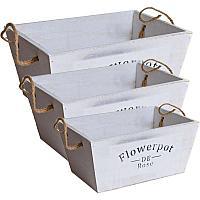 """Ящик-корзина для цветов """"Flowerpot de Rose"""", 3в1 , 26*19*20см, дерево"""