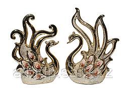"""Статуэтка """"Пара лебедей"""", золотистые (фарфор)"""