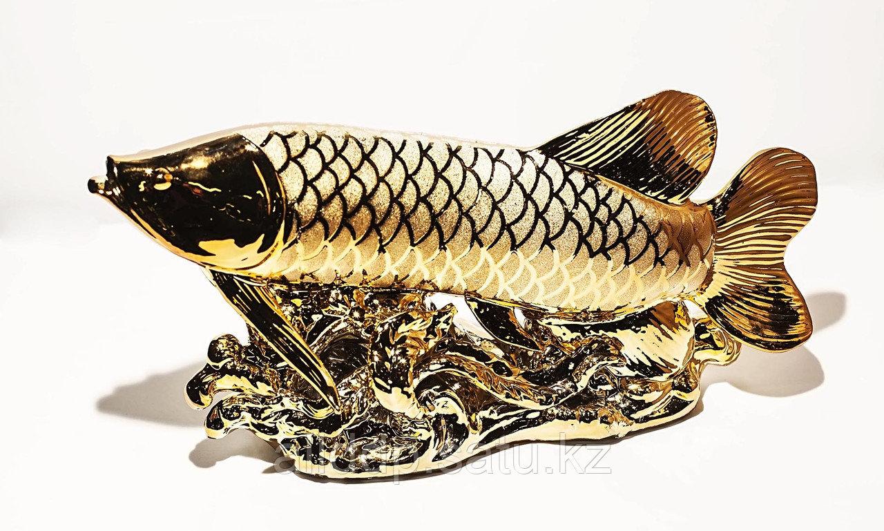 """Статуэтка """"Золотая рыбка"""", металл, 35 см"""