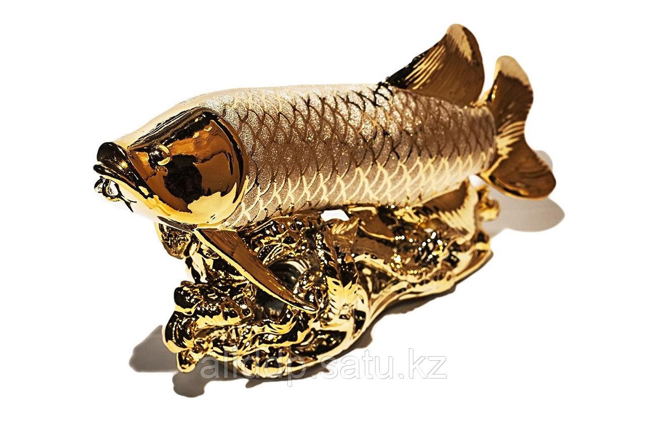 """Статуэтка """"Золотая рыбка"""", металл, 40 см"""