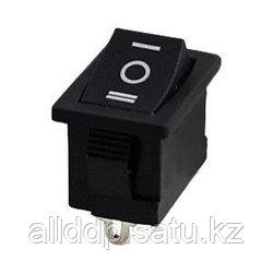Переключатель клавишный KCD1-103-2 3pin без подсв.ON-OFF-ON чёрн.