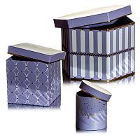 "Набор коробок 3в1 ""Лаванда"", h-14см, h-13см, h-12см, картон"