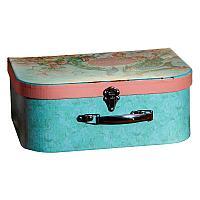 """Коробка -чемодан """"Павлины"""" 32х12см, картон/металл"""